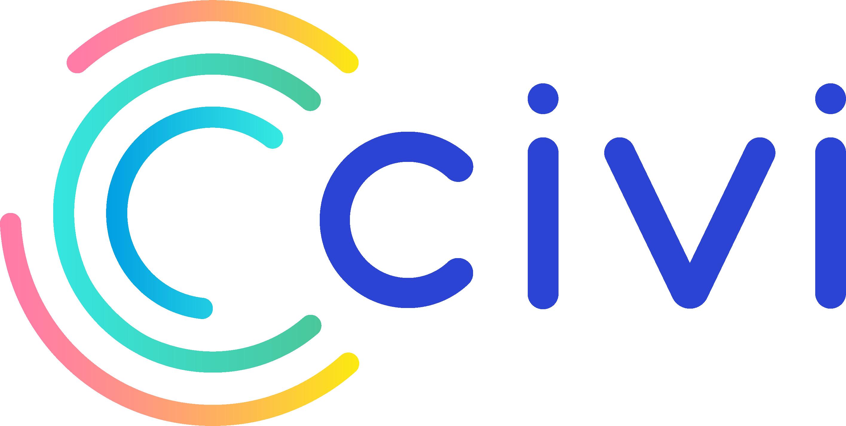 Civi Logo colored Dark tone