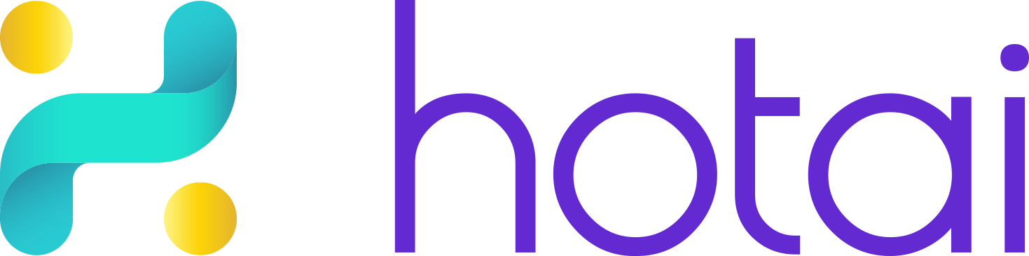hotai logo gradient purple text v1
